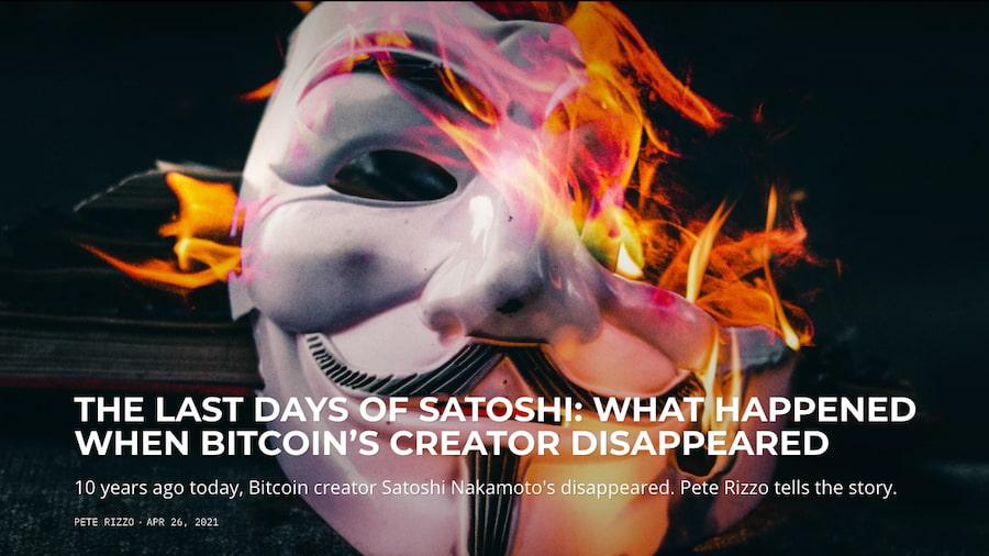 What Happened When Bitcoin Creator Satoshi Nakamoto Disappeared - Bitcoin Magazine: Bitcoin News, Articles, Charts, and Guides