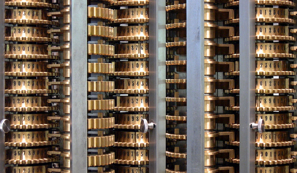 London Science Museum:  Replica of the Difference Engine