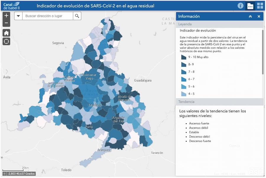 Mapa del sistema VIGÍA (Madrid)