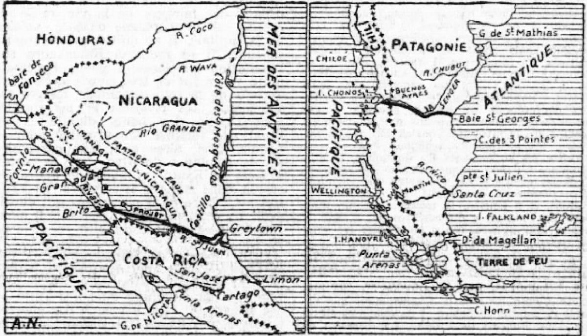 Canal de Nicaragua y el Canal de la Patagonia