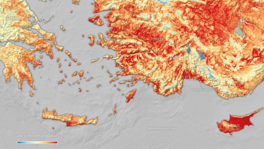 Mediterráneo / Copernicus Sentinel data (2021), procesado por ESA, CC BY-SA 3.0 IGO