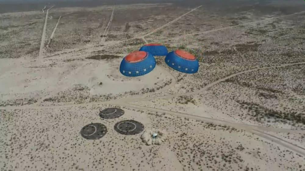 Aterrizaje de la RSS First Step – Blue Origin