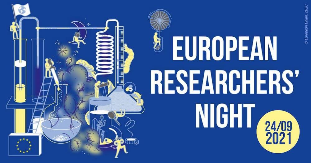 Ilustración sobre la Noche europea de las personas investigadoras 2021 - Unión Europea