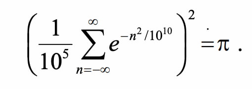 Get Billions and Billions of Correct Digits of Pi From a Wrong Formula