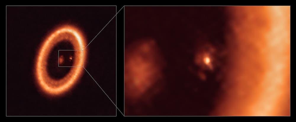 Detalles de PDS70 y el disco alrededor de PDS 70c – ALMA (ESO/NAOJ/NRAO)/Benisty et al.