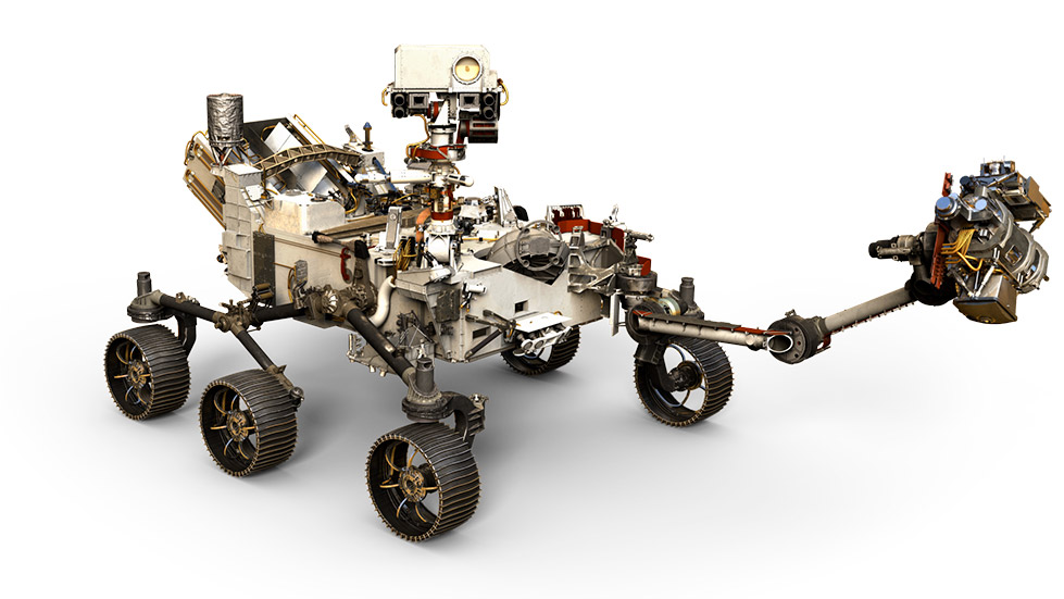 Rendering de Perseverance - NASA/JPL