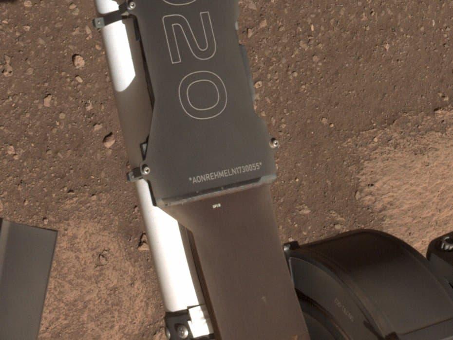 Número de identificación de vehículo de Perseverance – NASA/JPL-Caltech