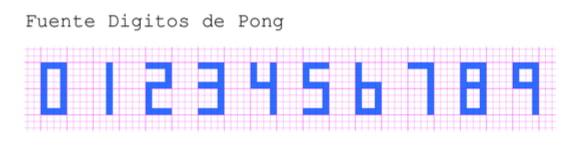 PongDuino - Dígitos de puntuación