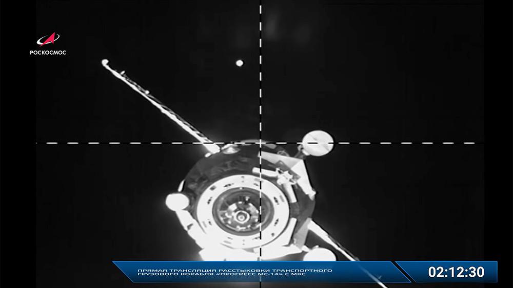 La Progress MS-14 partiendo de la EEI – Roscosmos