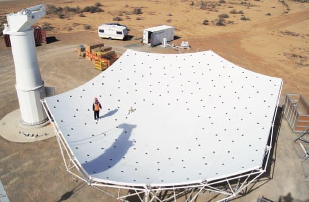 Una de las antenas prototipo de SKA-Mid – SKAO