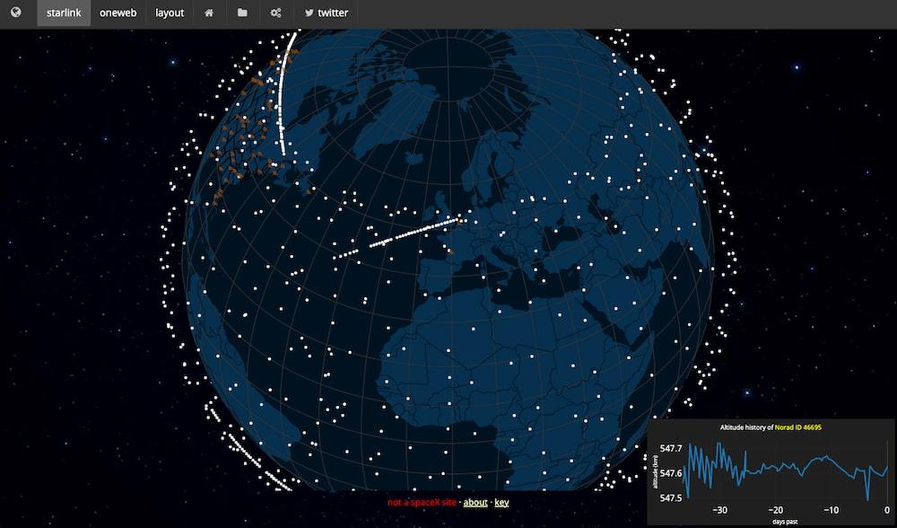 Live Starlink Satellite Map