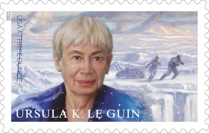 El sello dedicado a Ursula K. Le Guin – U.S. Postal Service