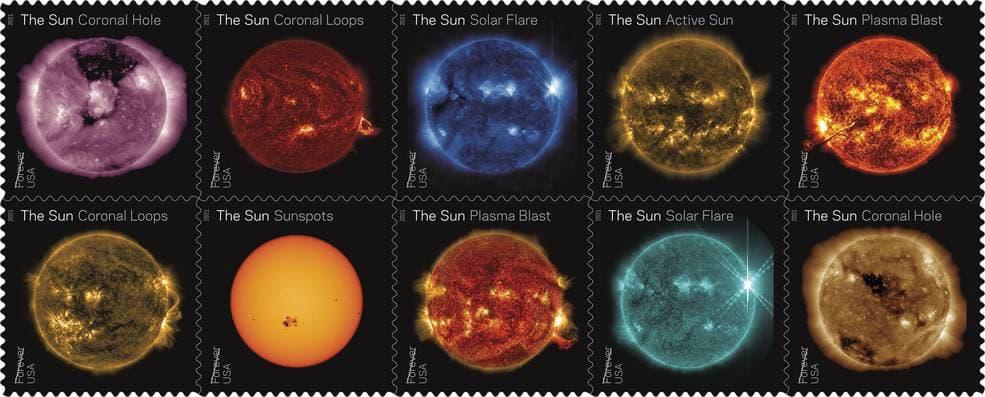 La serie de diez sellos – U.S. Postal Service