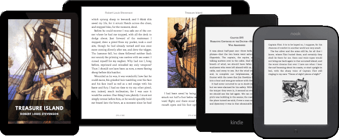 Algunos dispositivos compatibles con Standard Ebooks
