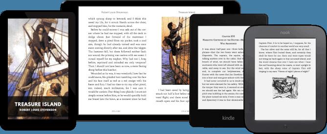 Algunos dispositivos compatibles con Standard Ebooks