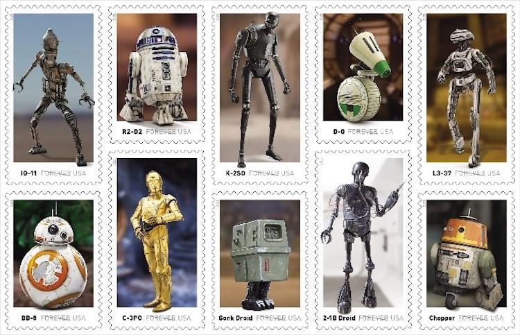 USPS Robots Star Wars