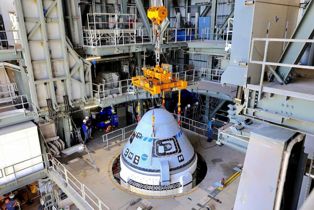 La Starliner acoplada a su cohete – Boeing