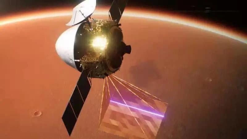 Impresión artística de Tianwen–1 reconociendo la superficie marciana – CASC