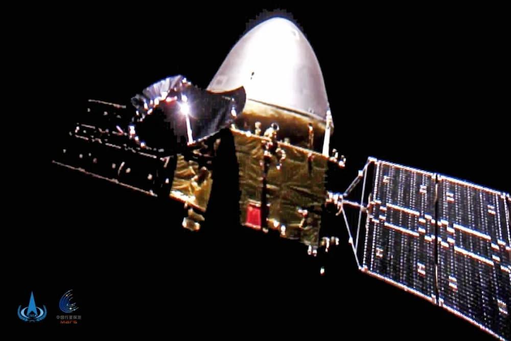Tianwen–1 en el espacio de camino a Marte – CNSA