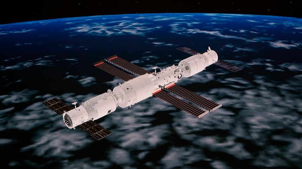 Tianzhou 3, la estación espacial, y Tianzhou 2 - CNSA
