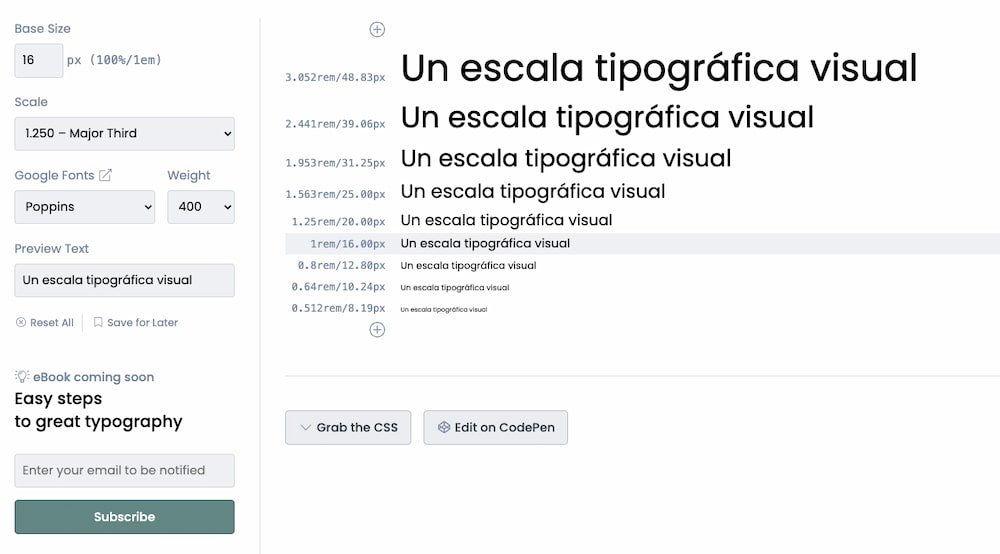 Type Scale - A Visual Calculator