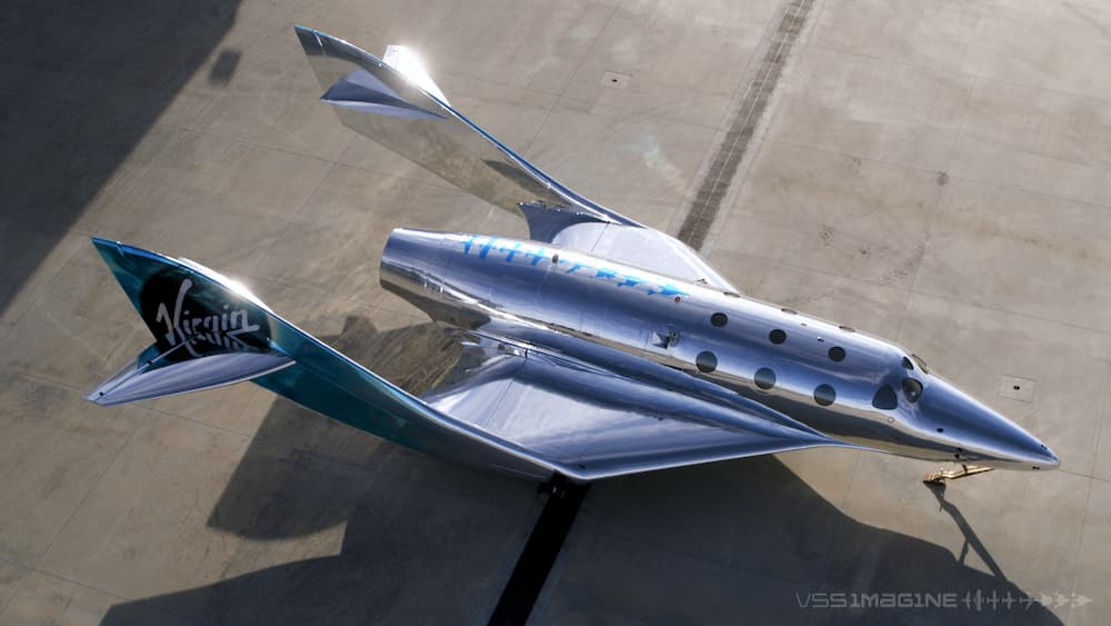 El VSS Imagine visto desde arriba – Virgin Galactic