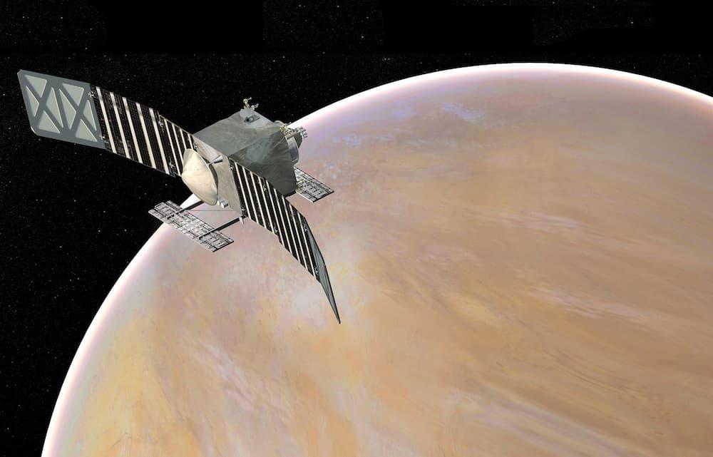 Impresión artística de Veritas en órbita alrededor de Venus – NASA/JPL-Caltech