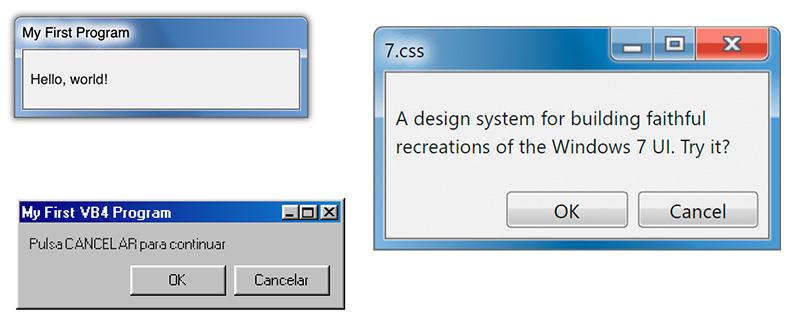 Windows 7, XP, 98