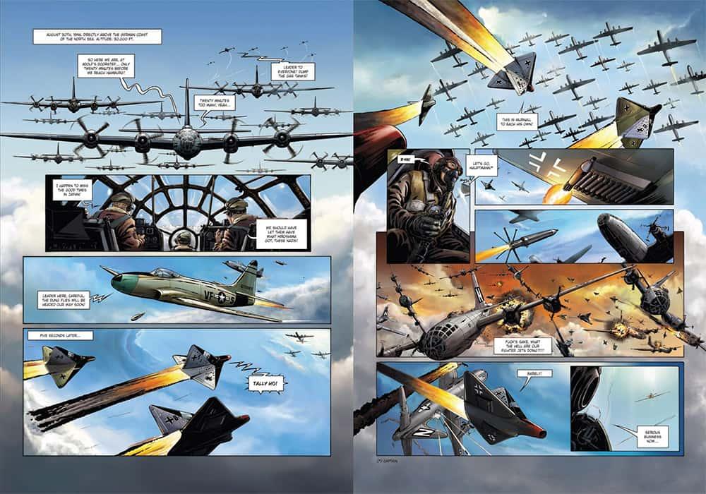 Uno de los combates aéreos del primer volumen de Wunderwaffen