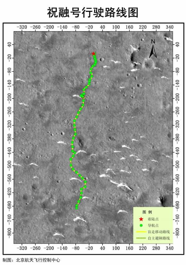 El recorrido de los primeros 100 días de Zhurong en Marte – CNSA