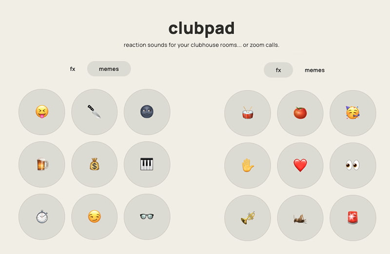 Clubpad - Sounds for Clubhouse