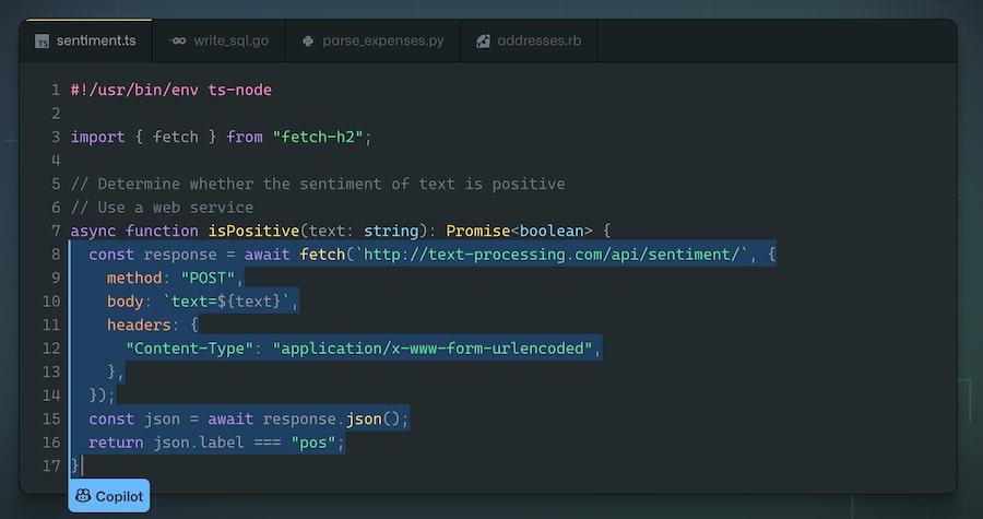 Copilot GitHub