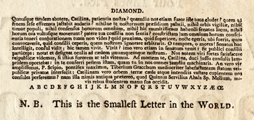 The Smallest Letter in the World | Fonts by Hoefler&Co.
