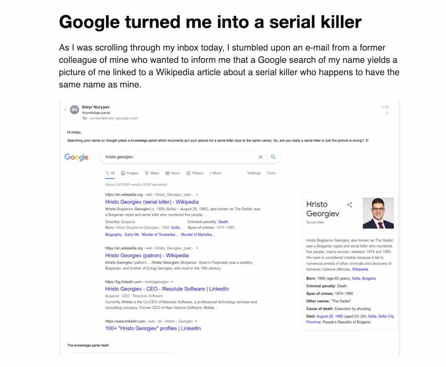 Hristo / Google