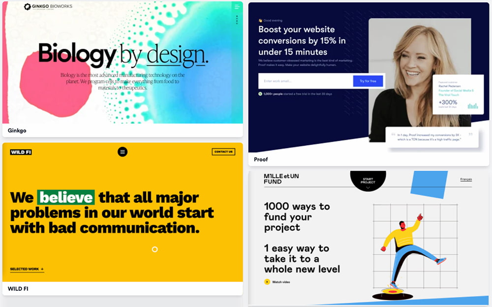 The Best Landing Page Design Inspiration and Examples (2021)