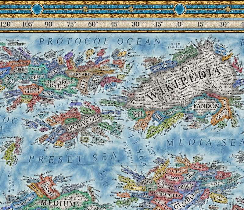 Map of the Internet — Halcyon Maps