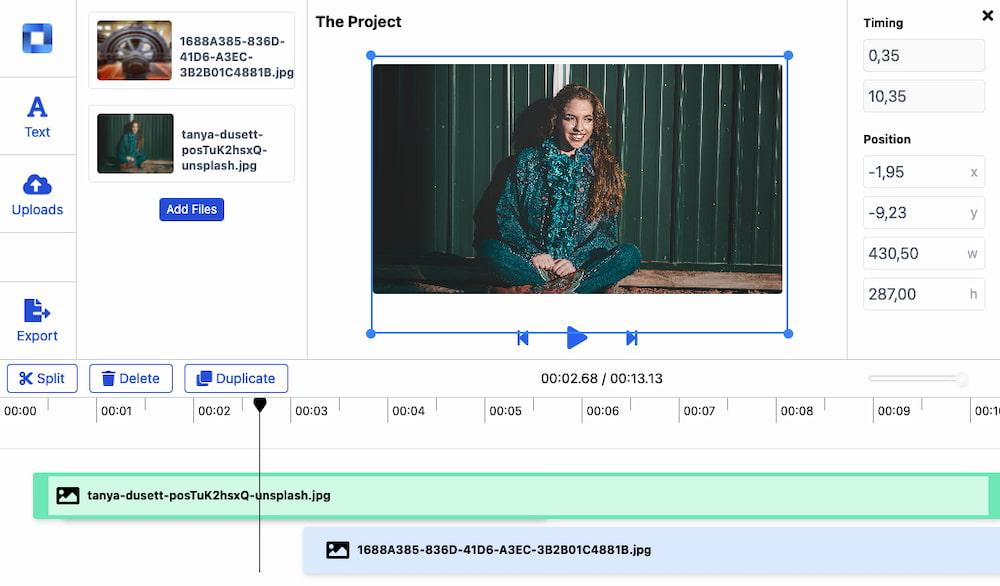Mastershot: online video editor