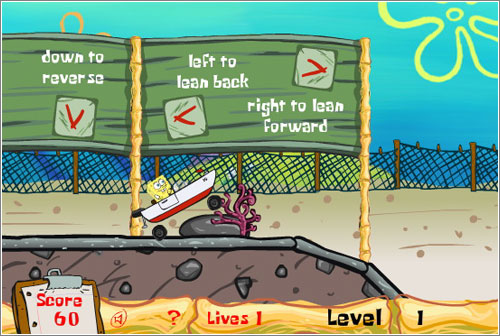 Boat-O-Cross: el juego hiperchungo de Bob Esponja