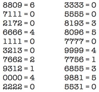 Estos números siguen una fórmula de construcción «secreta», hay que adivinarla