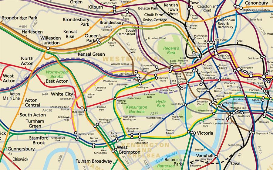 TfL / Mapa del Metro de Londres «cartográficamente preciso»