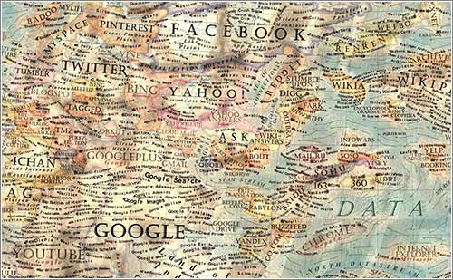 Resultado de imagen para nuevo mapa de la Internet