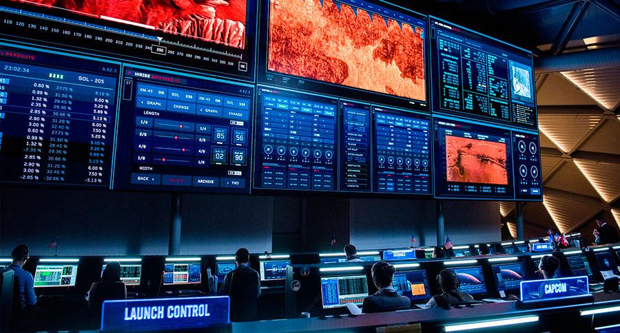 The Martian / El centro de control de la NASA dentro de unos años