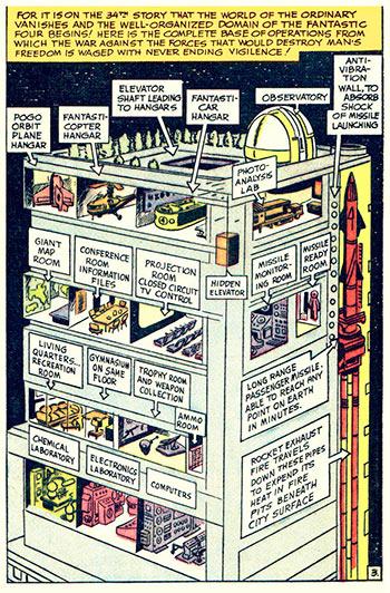 Baxter Building Cutaway - Fantastic Four #6
