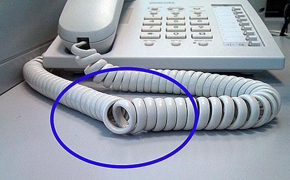 ¿Cómo se llaman estos nudos de los cables de los teléfonos fijos?