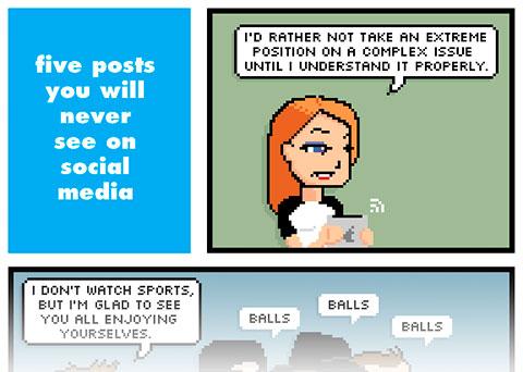 Cinco frases que nunca escucharás en las redes sociales (C) RStevens
