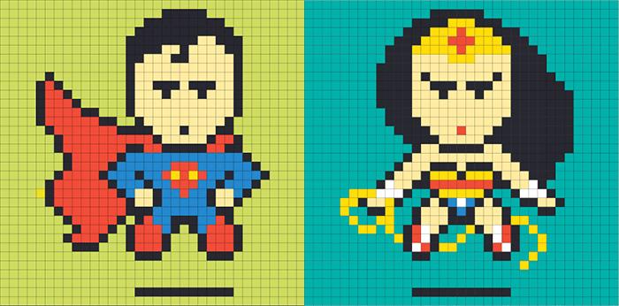 Superhéroes de Píxeles / Ben Brucker