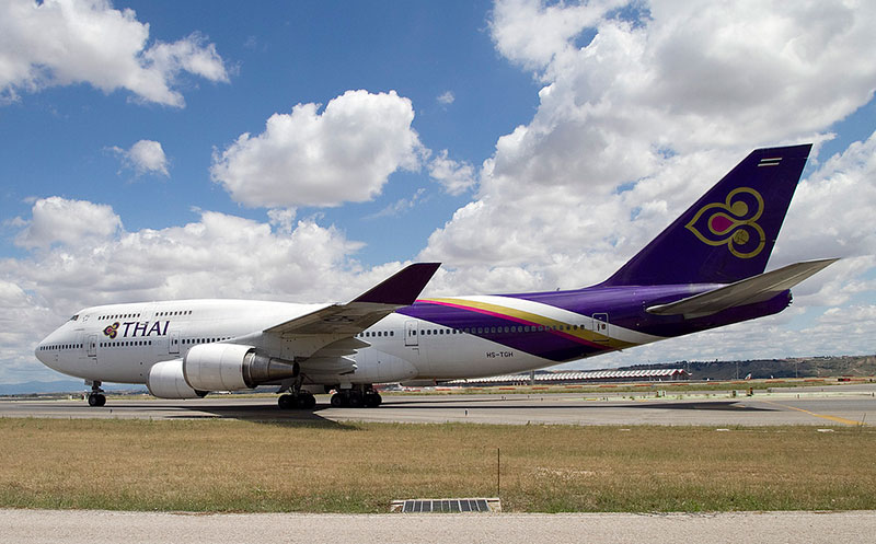Thai Airways International Boeing 747-4D7 (CC) Wicho @ Flickr}