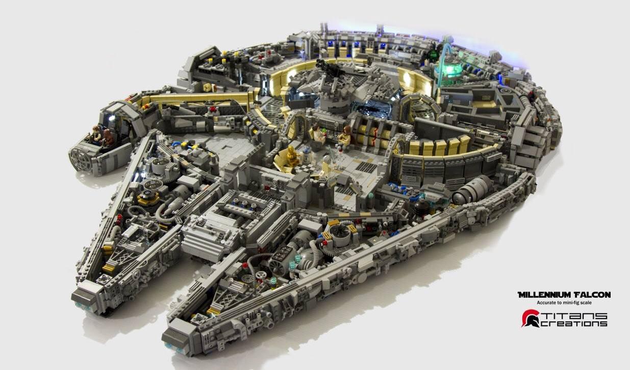 Titan Creations: Millenium Falcon 10,000