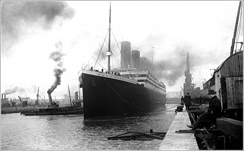 El Titanic saliendo de Southampton / National Museums Northern Ireland