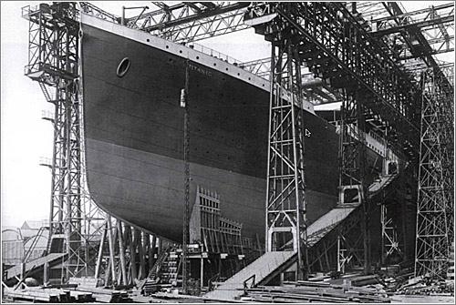 Foto: El Titanic, en el dique de construcción / The Ulster Folk and Transport Museum / H1560